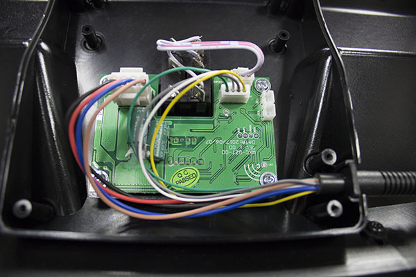 Circuit board behind digital readout