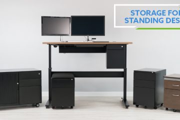 Storage Options For Standing Desks – VertDesk v3 and NewHeights XT
