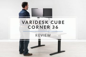 Varidesk Cube Corner® 36 Standing Desk for Cubicles (2019 Review / Rating / Pricing)
