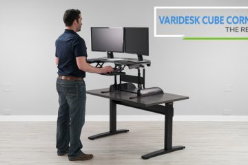 Varidesk Cube Corner® 36 Standing Desk Converter (Review / Rating / Pricing)
