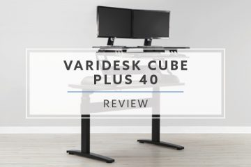 Varidesk Cube Plus® 40 Sit to Stand Converter for Cubicles (2019 Review / Rating / Pricing)