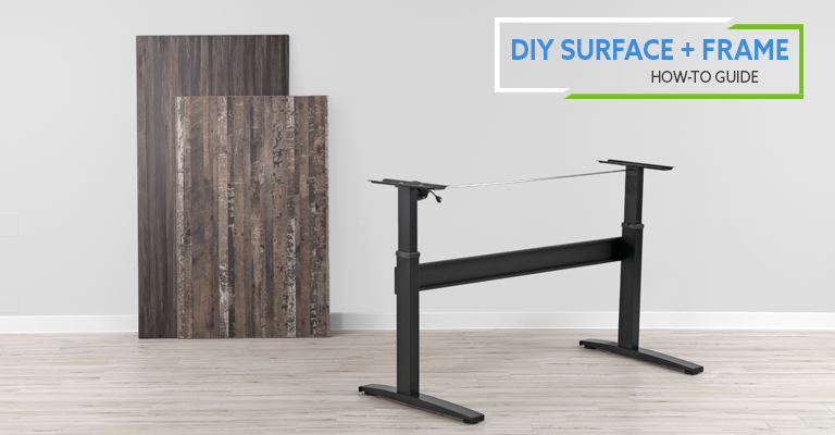 How-To Pair DIY Desk Surface (Top) and Standing Desk Frame