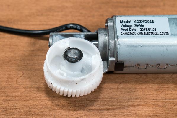 Close up of VARIDESK motor