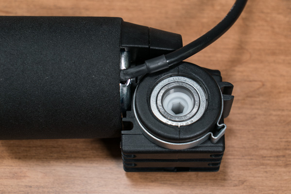 Close up of VertDesk motor