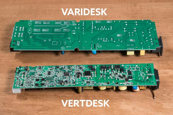 VariDesk vs VertDesk v3 Circuit Board Bottom