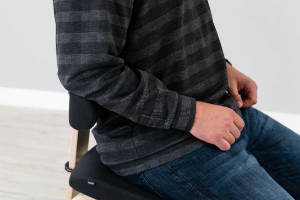 Varier Thatsit Backrest and Armrests From Side