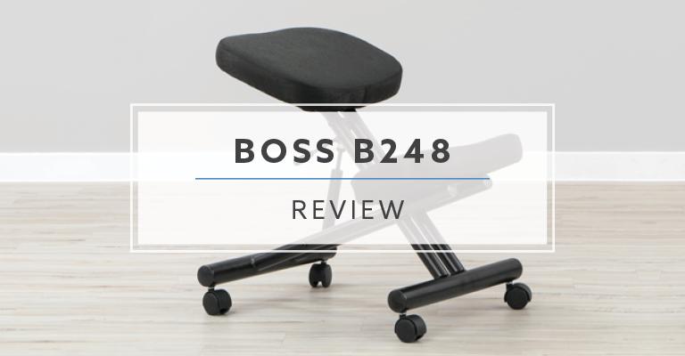 "BOSS Knee Desk Chair,Metal Base,Overall 25/"" H B248"