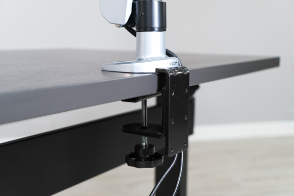C-clamp monitor mount pictured