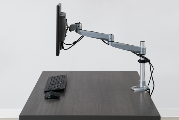 Showing monitor arm extended from back of 30