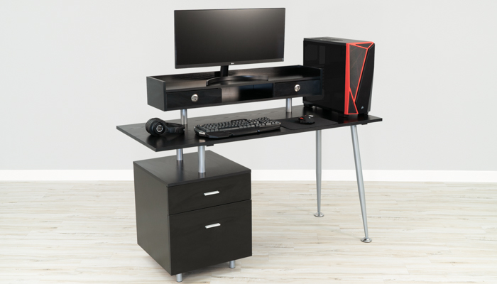 Flash Best Desk For Gaming with Storage
