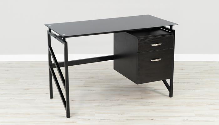 Black Glass PC Gaming Desk
