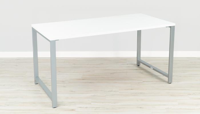 Bush Furniture White and Silver Gaming Desk