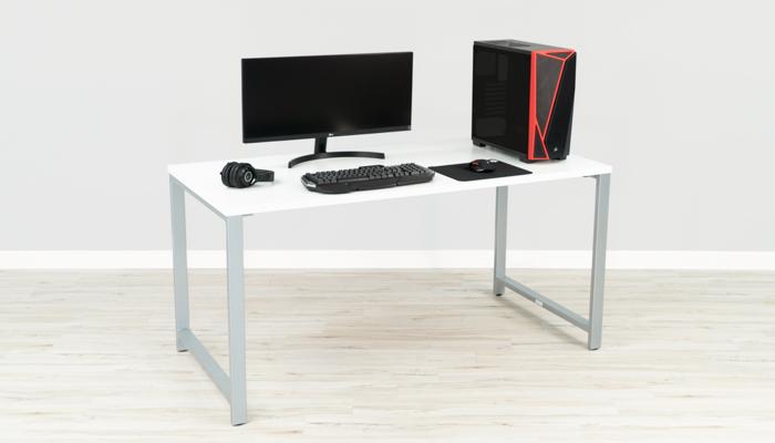 "Bush 59"" Wide White Gaming Desk"