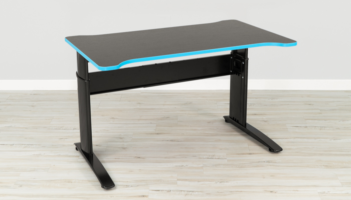 LEVL Gamma Gaming Desk in Blue and Black