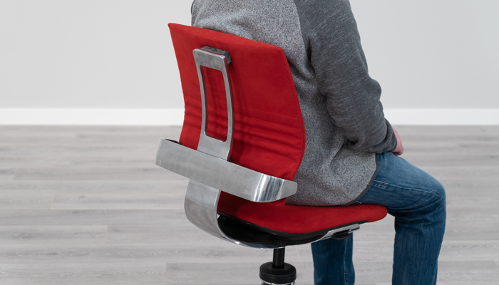 Using Backrest with Lumbar Shown From Angle