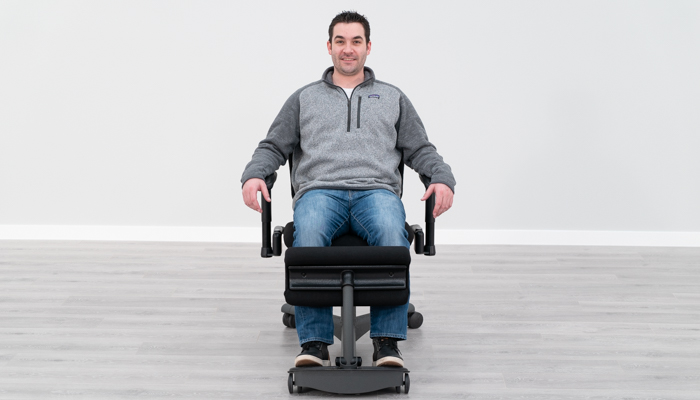 Using Armrests in Seated Position
