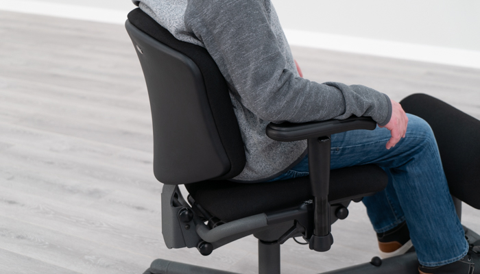 Backrest in Sitting Position