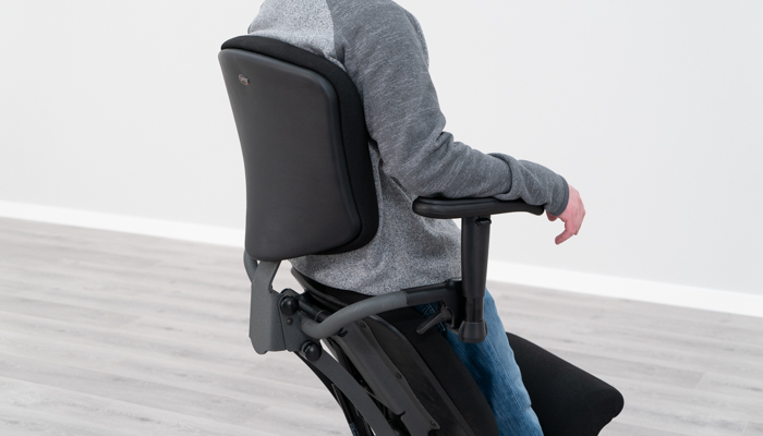 Backrest in Standing Position