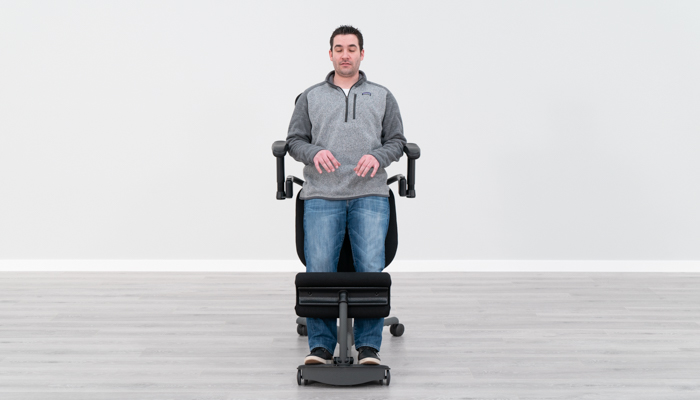 Using Armrests in Standing in Typing Position
