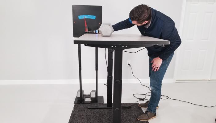 "SmartDesk 2 Business Edition Rocking Test Setup @ 46"""