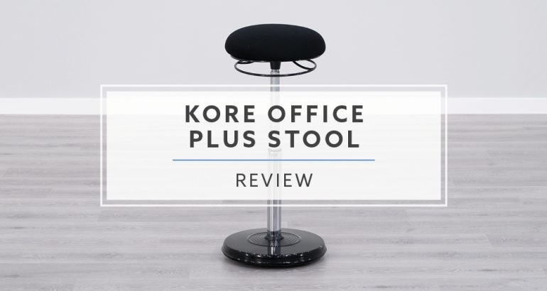 Kore Office Plus Sit Stand Desk Chair Review Header