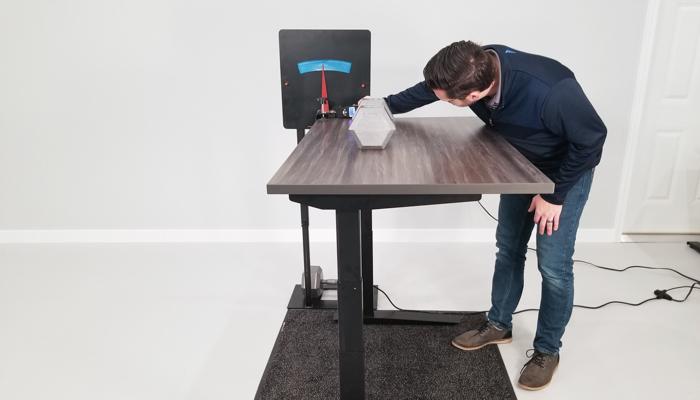 """Jarvis Rocking Deflection Test Setup @ 42"""""""