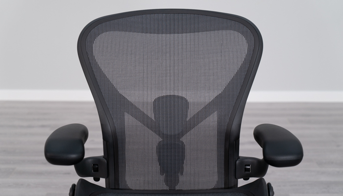 Front view of Aeron's backrest