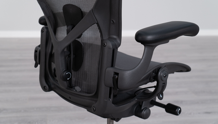 Herman Miller Aeron's armrest and backrest