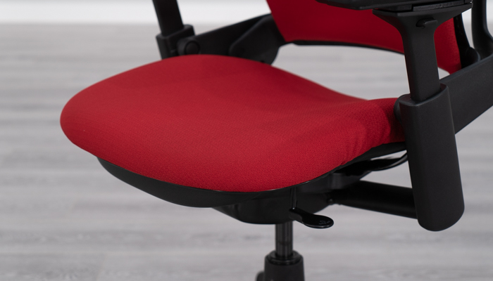 Front of seat pad on Steelcase Leap v2