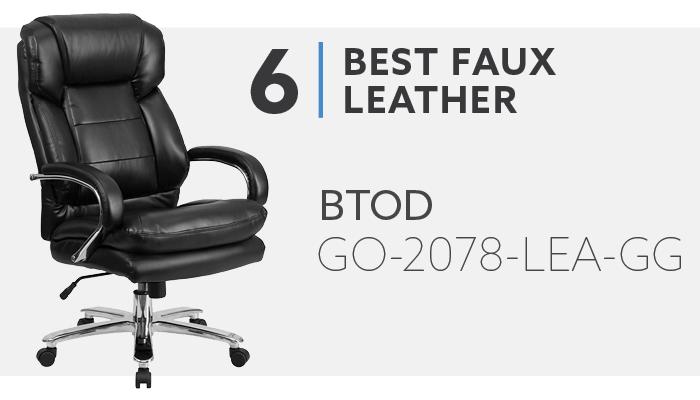#6 Best Faux Leather Heavy Duty Office Chair