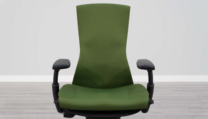 Front view of Embody's backrest
