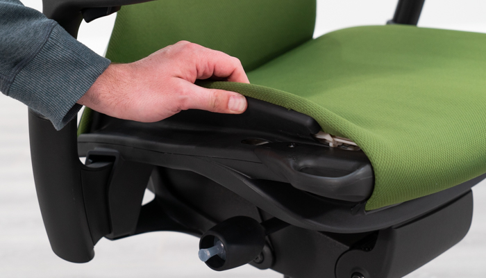 Flexibility of seat pad shown
