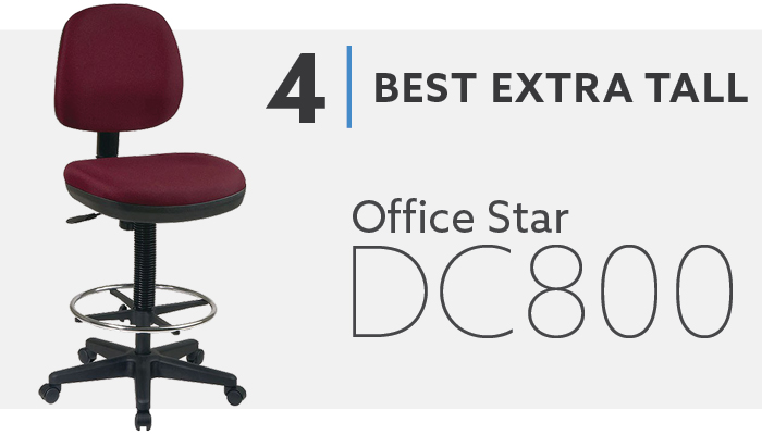 #4 Best Extra Tall Drafting Chair