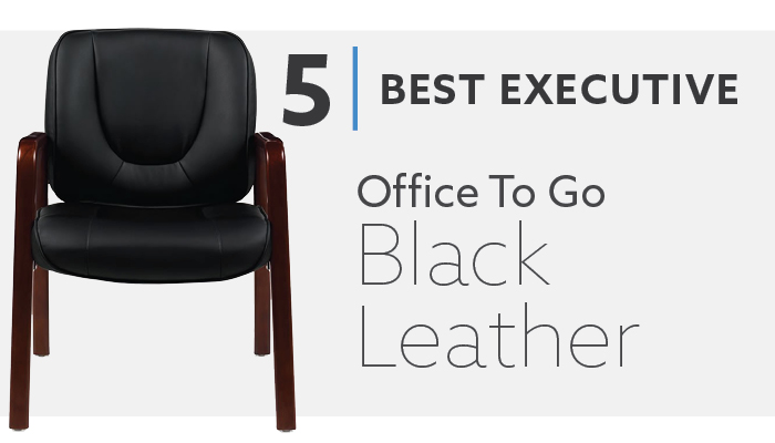 #5 Offices To Go Best Black Leather Executive Guest Chair