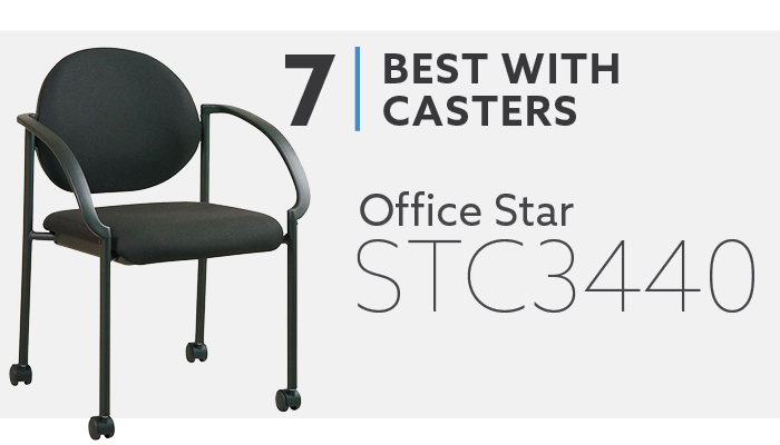 #7 Office Star STC3440 Best Guest Chair with Casters
