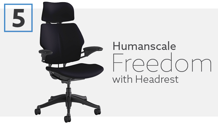#5 Best Ergonomic Chair with Headrest - Humanscale Freedom