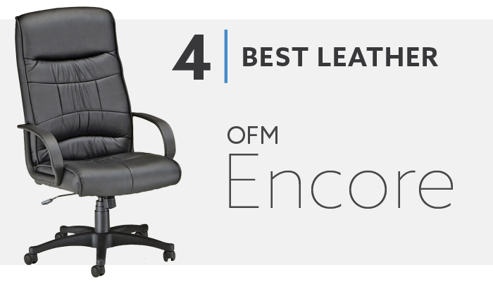 #4 Best Leather Office Chair Under $150 - OFM Encore Chair