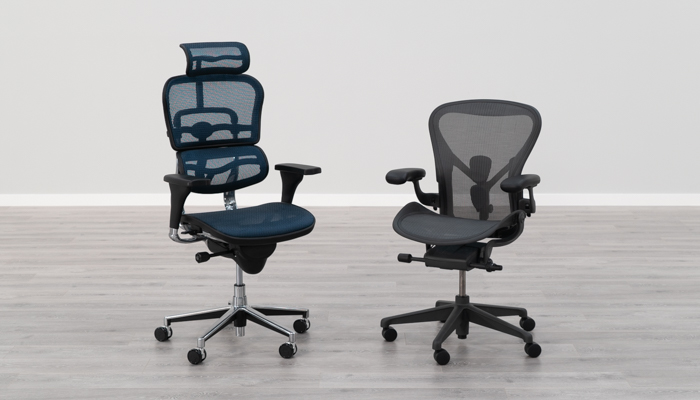 Eurotech Ergohuman (left) vs. Herman Miller Aeron