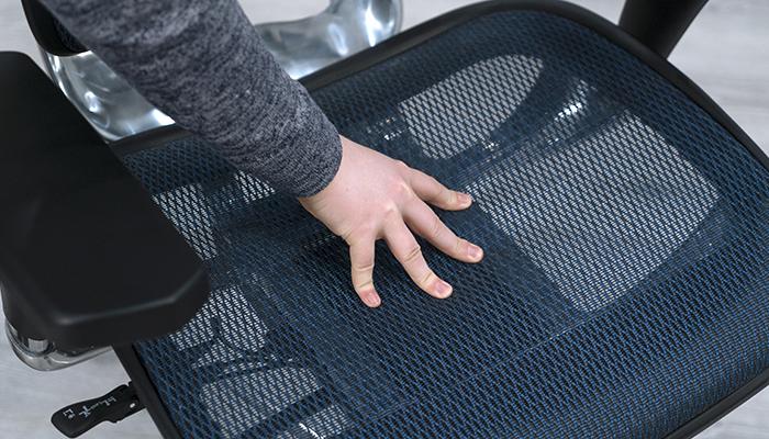 Pushing down on Ergohuman mesh seat