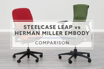 Steelcase Leap vs. Herman Miller Embody: Which is the best chair for me?