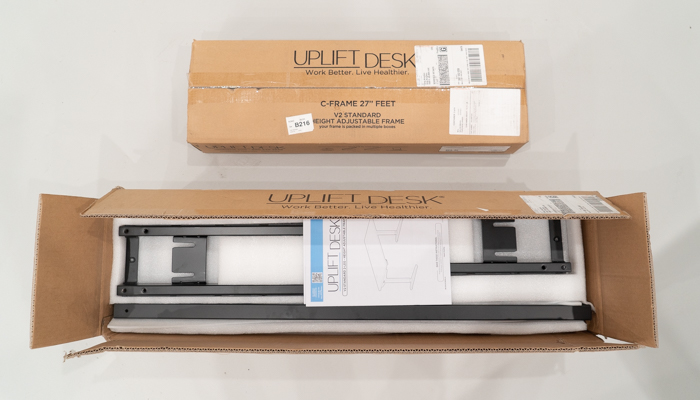 New Uplift Desk packaging