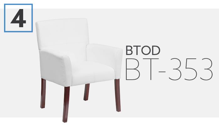 BTOD Upholstered Side Chair With Wooden Legs
