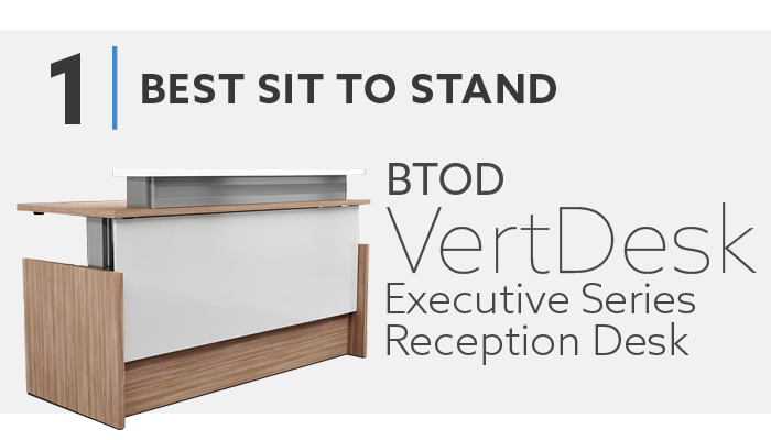 VertDesk Executive Series Reception Desk