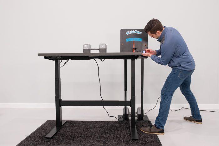 "Uplift Desk v2 Commerical Wobble Deflection Test Setup @ 42"""