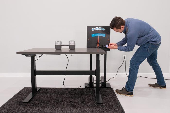 """Uplift Desk v2 Commercial Wobble Deflection Test Setup @ 30"""""""
