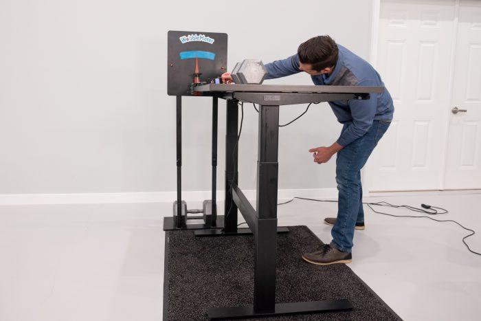 """Uplift Desk v2 Commercial Rocking Deflection Test Setup @ 42"""""""