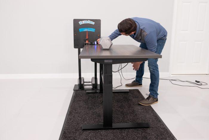 """Uplift Desk v2 Commerical Rocking Deflection Test Setup @ 30"""""""