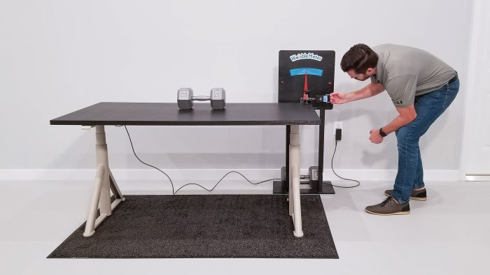 IKEA Idasen Wobble Deflection Test Setup @ 30""