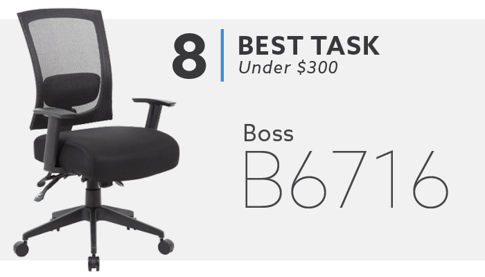 #8 Best Task Chair Under $300 Boss B6716 Chair
