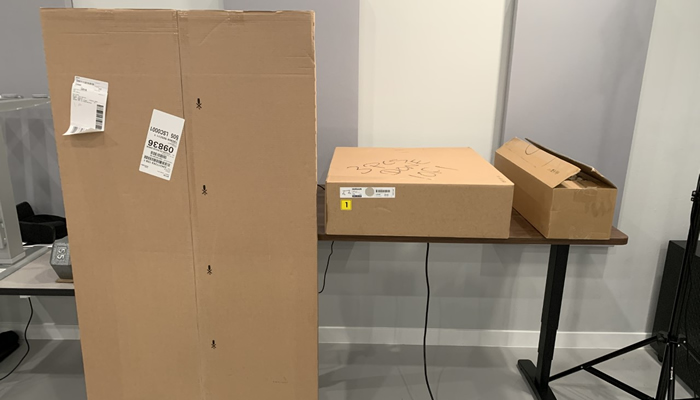 Large IKEA Idasen Boxes